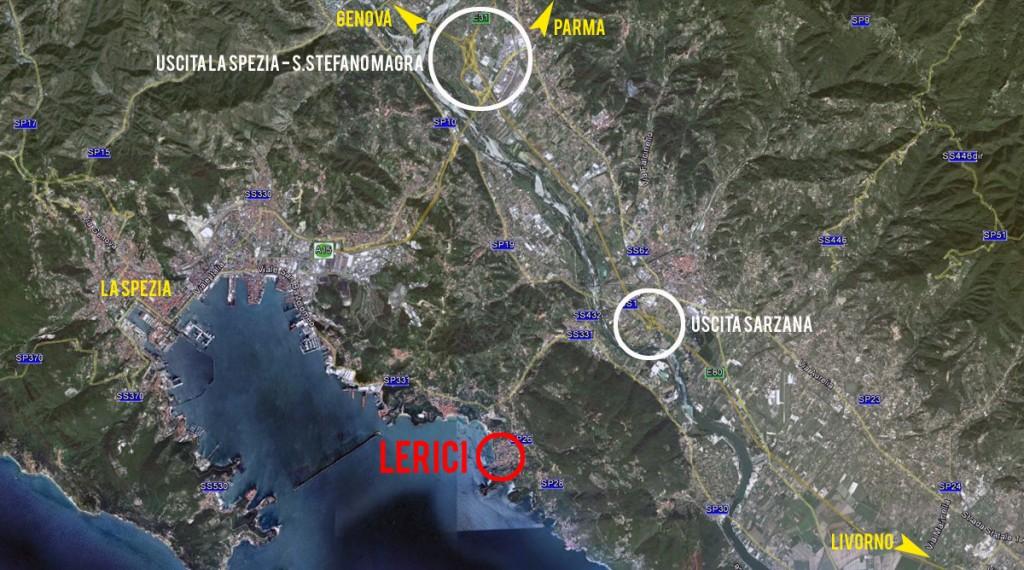 Mappa generale triathlon di lerici